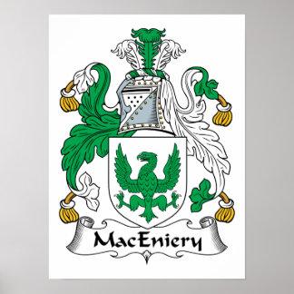 Escudo de la familia de MacEniery Póster