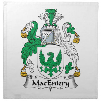 Escudo de la familia de MacEniery Servilletas Imprimidas