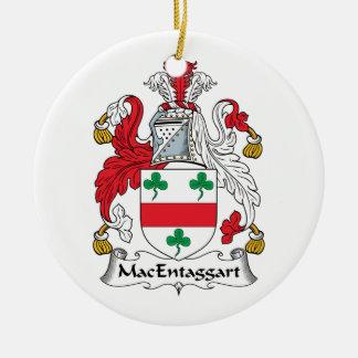 Escudo de la familia de MacEntaggart Ornamento Para Arbol De Navidad