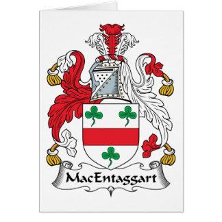 Escudo de la familia de MacEntaggart Tarjeta