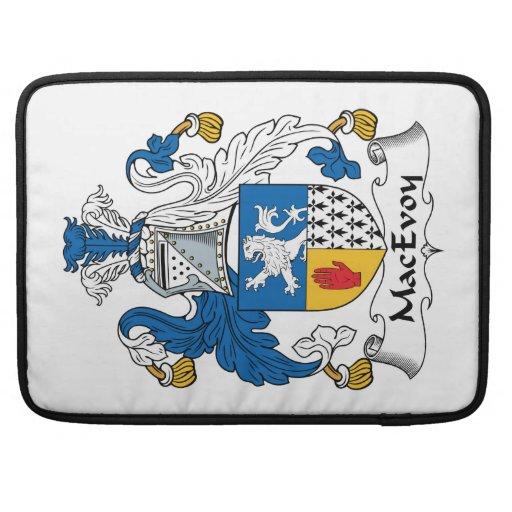 Escudo de la familia de MacEvoy Fundas Macbook Pro