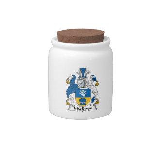 Escudo de la familia de MacEwan Jarras Para Caramelos
