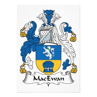 Escudo de la familia de MacEwan Invitación Personalizada