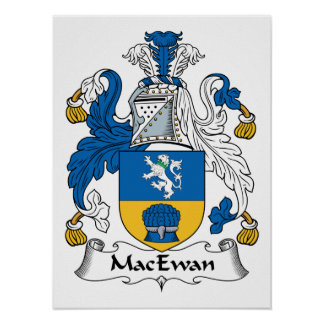 Escudo de la familia de MacEwan Posters