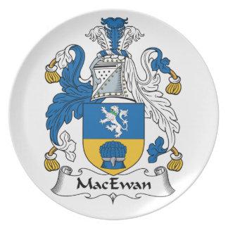 Escudo de la familia de MacEwan Plato De Comida