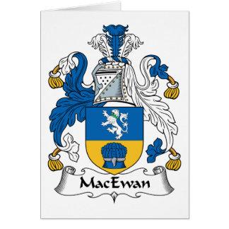 Escudo de la familia de MacEwan Tarjeta De Felicitación