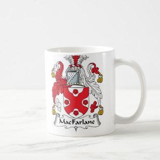 Escudo de la familia de MacFarlane Taza De Café