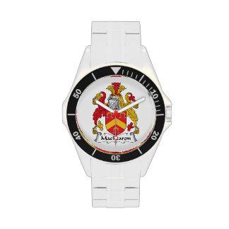 Escudo de la familia de MacFearon Relojes