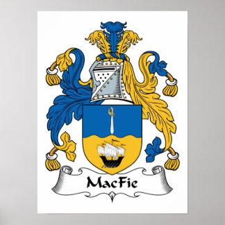 Escudo de la familia de MacFie Póster