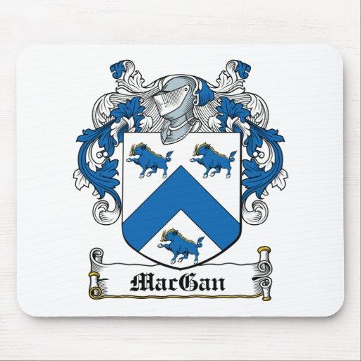 Escudo de la familia de MacGan Alfombrillas De Ratones
