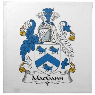 Escudo de la familia de MacGann Servilleta