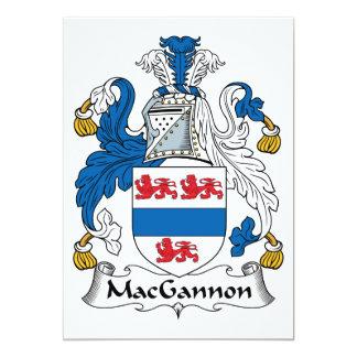 """Escudo de la familia de MacGannon Invitación 5"""" X 7"""""""