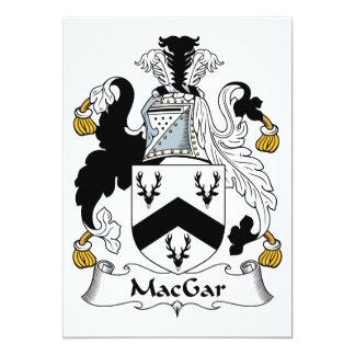 Escudo de la familia de MacGar Invitación 12,7 X 17,8 Cm