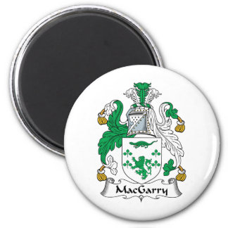 Escudo de la familia de MacGarry Imán Redondo 5 Cm