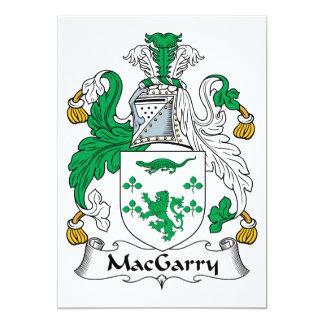 """Escudo de la familia de MacGarry Invitación 5"""" X 7"""""""