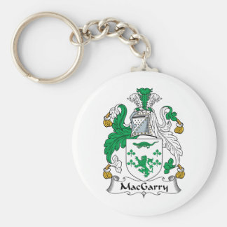 Escudo de la familia de MacGarry Llavero Redondo Tipo Pin