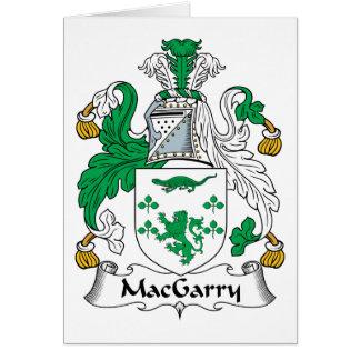 Escudo de la familia de MacGarry Tarjeta De Felicitación