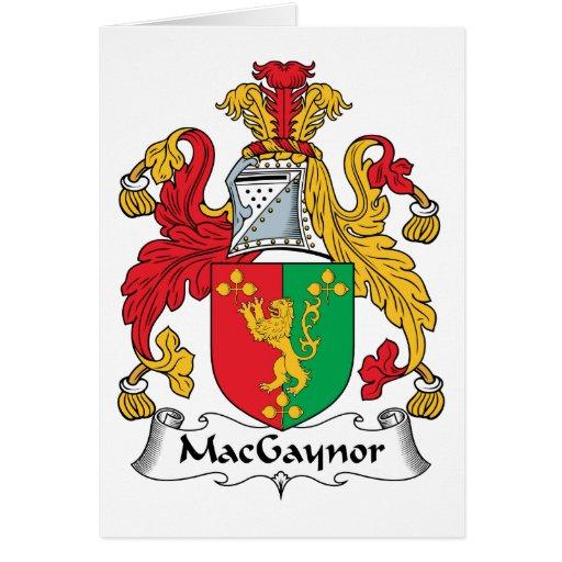 Escudo de la familia de MacGaynor Tarjeton