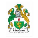 Escudo de la familia de MacGenis Postal