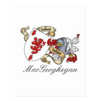 Escudo de la familia de MacGeoghegan Postales