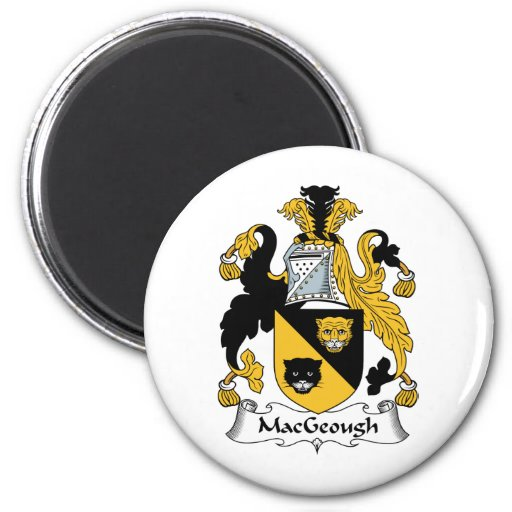 Escudo de la familia de MacGeough Imán Redondo 5 Cm