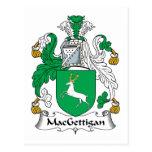 Escudo de la familia de MacGettigan Postal