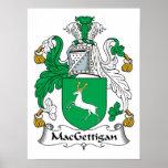 Escudo de la familia de MacGettigan Poster