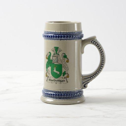 Escudo de la familia de MacGettigan Tazas De Café