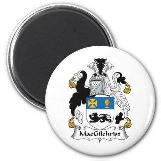 Escudo de la familia de MacGilchrist Imán Redondo 5 Cm