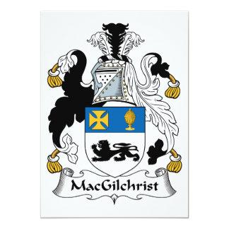 """Escudo de la familia de MacGilchrist Invitación 5"""" X 7"""""""