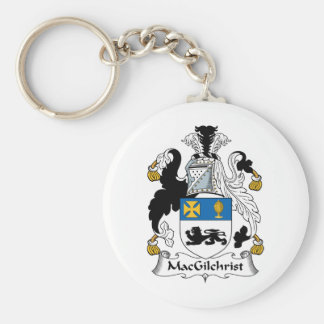 Escudo de la familia de MacGilchrist Llavero Redondo Tipo Pin