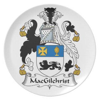 Escudo de la familia de MacGilchrist Plato De Comida