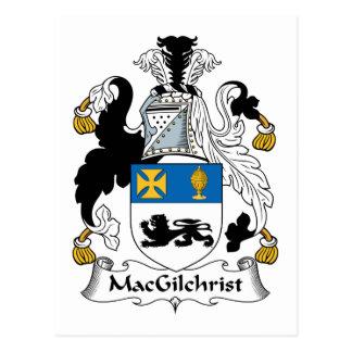 Escudo de la familia de MacGilchrist Postal