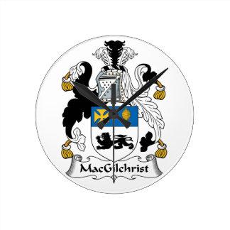 Escudo de la familia de MacGilchrist Reloj Redondo Mediano