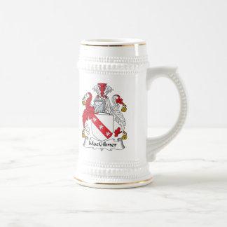 Escudo de la familia de MacGilmer Jarra De Cerveza