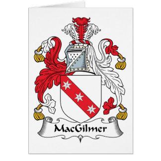 Escudo de la familia de MacGilmer Tarjeta De Felicitación