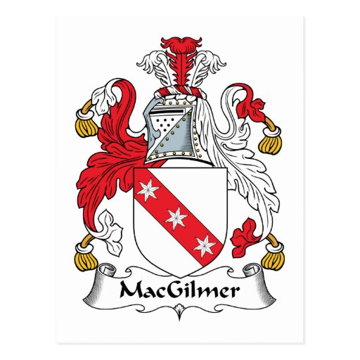 Escudo de la familia de MacGilmer Tarjetas Postales