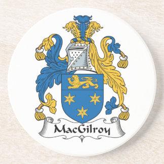 Escudo de la familia de MacGilroy Posavasos Cerveza