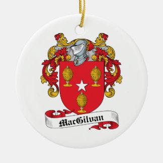 Escudo de la familia de MacGilvan Adorno Navideño Redondo De Cerámica