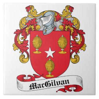 Escudo de la familia de MacGilvan Azulejo Cuadrado Grande