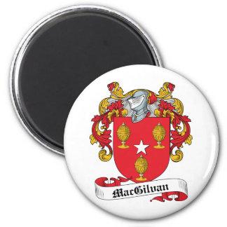 Escudo de la familia de MacGilvan Imán Redondo 5 Cm