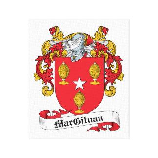 Escudo de la familia de MacGilvan Impresión De Lienzo