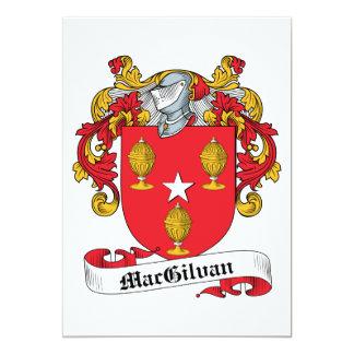 """Escudo de la familia de MacGilvan Invitación 5"""" X 7"""""""
