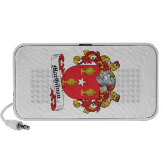 Escudo de la familia de MacGilvan iPhone Altavoz