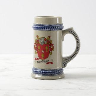 Escudo de la familia de MacGilvan Jarra De Cerveza