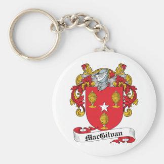 Escudo de la familia de MacGilvan Llavero Redondo Tipo Pin