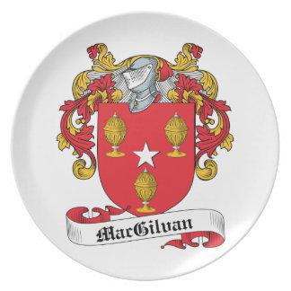 Escudo de la familia de MacGilvan Plato Para Fiesta