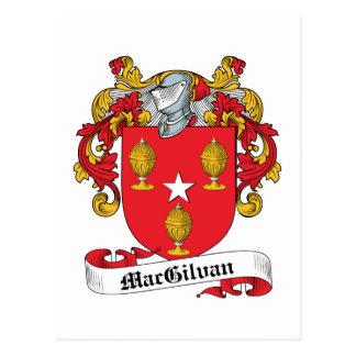 Escudo de la familia de MacGilvan Postales