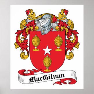 Escudo de la familia de MacGilvan Póster