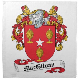 Escudo de la familia de MacGilvan Servilleta